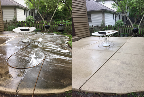 Power Wash Before and After photo