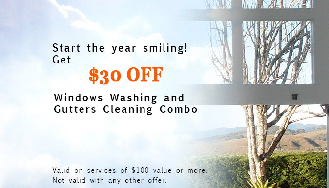 $30 Off Windows Washing and Gutters Cleaning Combo