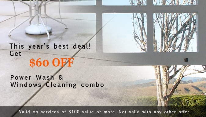 $60 Off Power Wash and Windows Cleaning Combo
