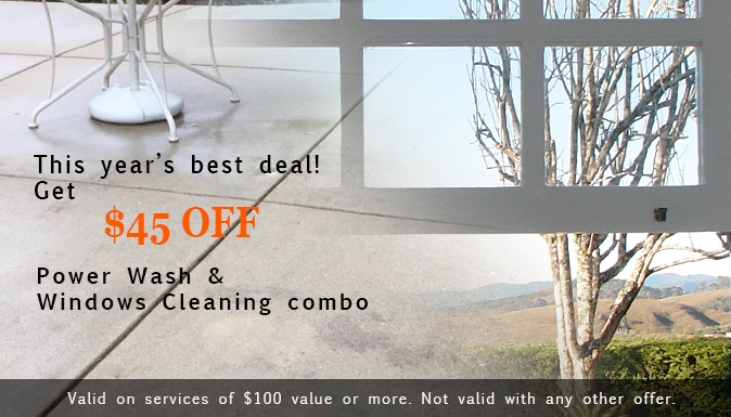 $45 Off Power Wash and Windows Cleaning Combo